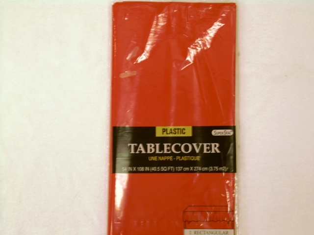 "S2840: Red Extra Heavy Duty Table Cover 54""x108"""