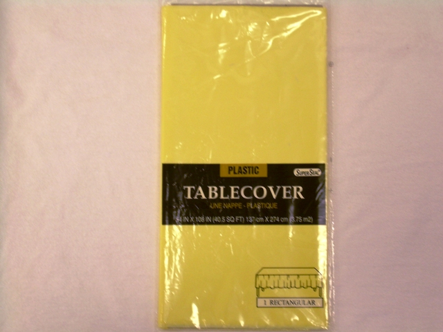 "S2848: Yellow Extra Heavy Duty Table Cover 54""x108"""