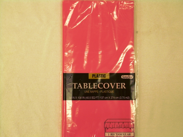 "S2842: Pink Extra Heavy Duty Table Cover 54""x108"""