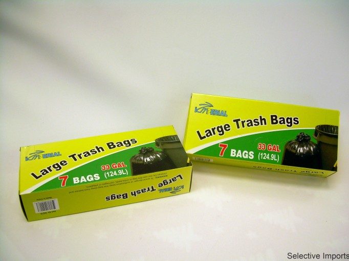 S4218: 7Pk 33 Gallon Large Trash Bag