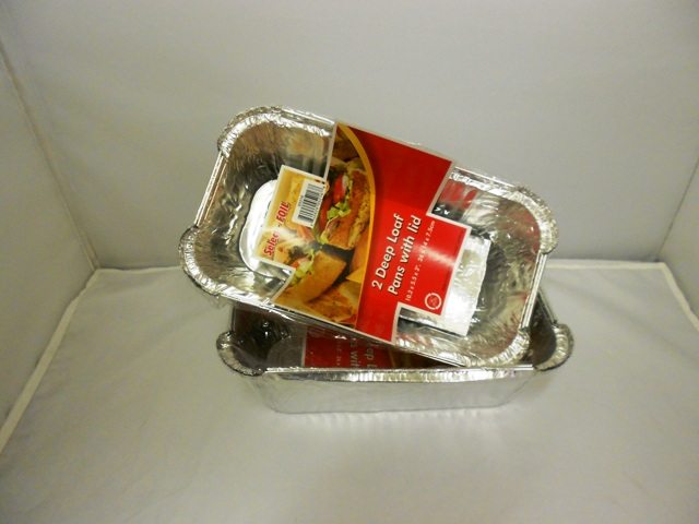 S5216: 2Pk Aluminum Deep Loaf with Lid