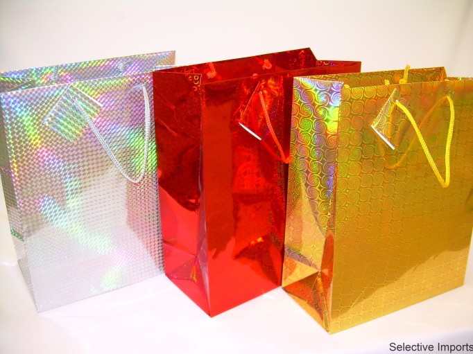 S1915: Large Hologram Gift Bag