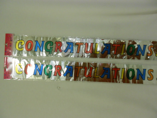 "S1938: ""Congratulations"" Metallic Banner"
