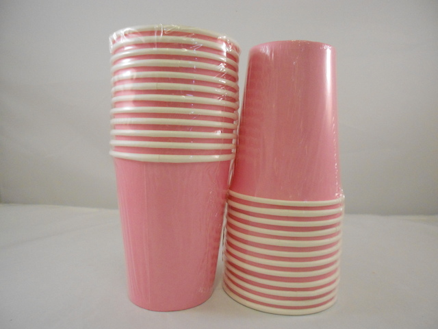 S5532: 12Pk 9oz Light Pink Paper Cup