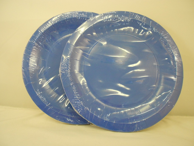 S5535: 16Pk 7 Inch Blue Paper Plates