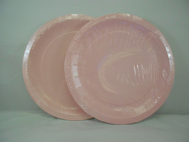 S5540: 12Pk 9 Inch Light Pink Paper Plates