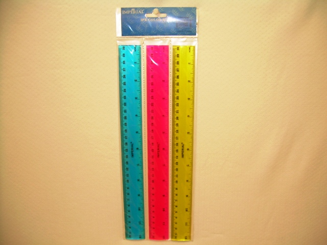 S2265: 3Pk Assorted Color Rulers