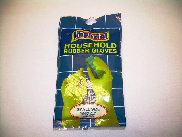 GB-109: Rubber Kitchen Glove in Bag - Small