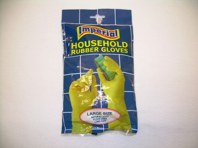 GB-111: Rubber Kitchen Glove in Bag - Large