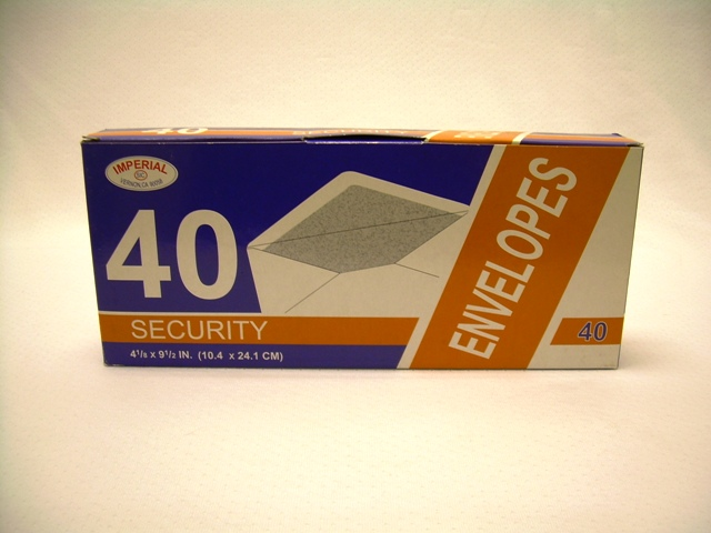 S3509: 40Pk Security #10 Envelope