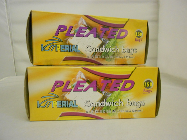 S4209: 150Pk Pleated Sandwich Bag