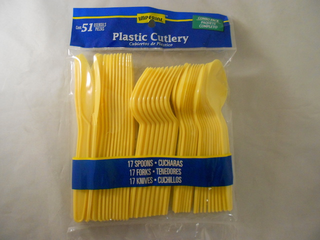 S4948: 51Pk Yellow Assorted Cutlery