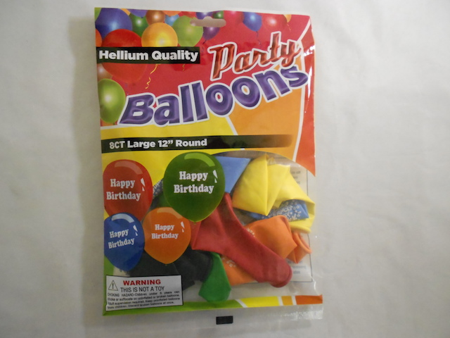 "S5477: 8Pk ""Happy Birthday"" Printed Balloons"