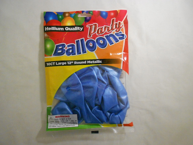 NL5350:10Pk Light Blue Balloons Metallic