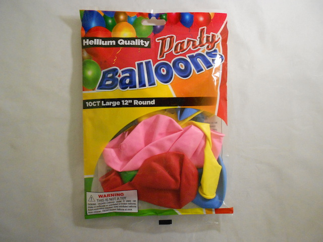 S5446: 10Pk Assorted Color Balloons Standard