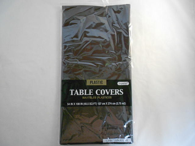 "S2851: Black Extra Heavy Duty Table Cover 54""x108"""