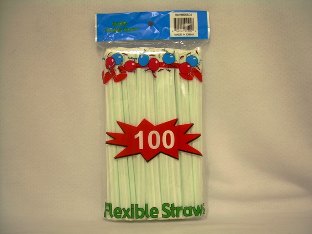 S5504: 100Pk Individually Wrapped Straws