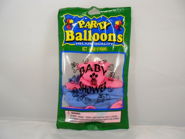 "NL5387: 8Pk ""Baby Shower"" Printed Balloons"
