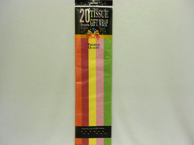 S1456: 20Pk Bright Colors Tissue Wrap