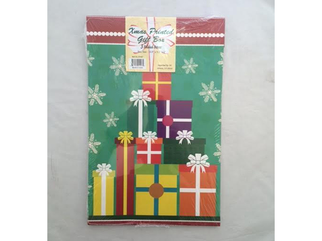 S1497: 3Pk Assorted Christmas Gift Boxes
