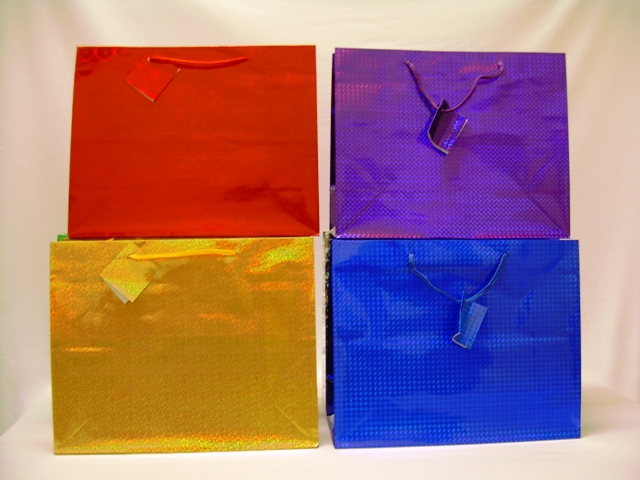 S1926: Horizontal Large Hologram Gift Bag