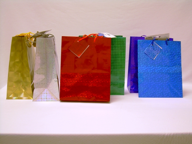 S1927: 2Pk Medium Hologram Gift Bag