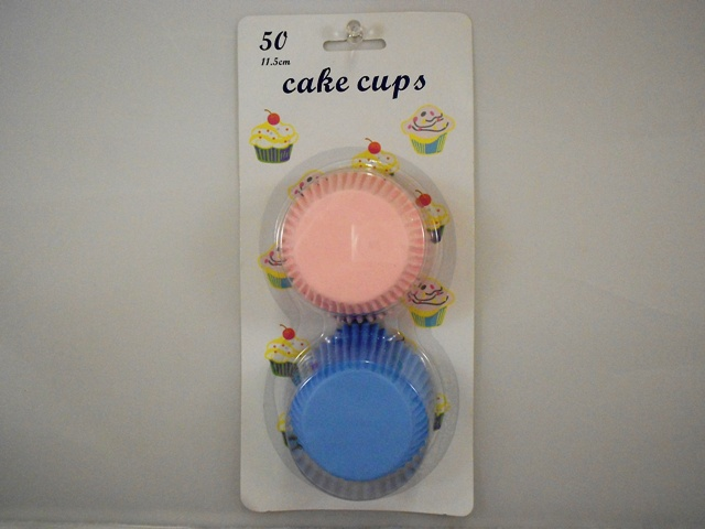 S5219: 50Pk Blue and Pink Mixed Cupcake Liners