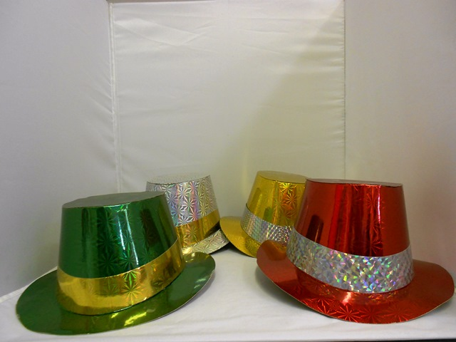 S5595: Metallic Paper Hats